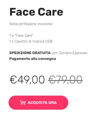 face care prezzo